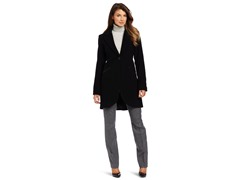 Anne Klein Women's Nancy Coat, Black