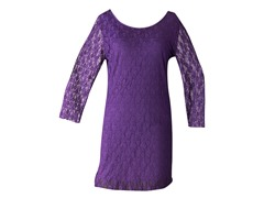 Star Vixen Lace Dress, Purple