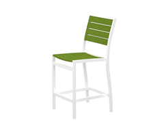 Euro Counter Chair, White/Lime