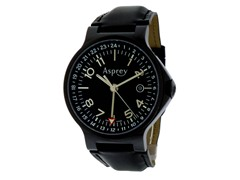 No 8 Round Dual Time Black Watch