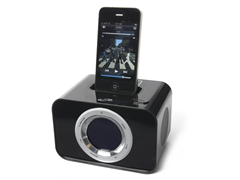 iLive Black Clock Radio with 30-pin Dock