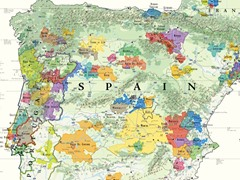 Wine Map of the Iberian Peninsula