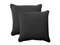 "In/Outdoor 18.5"" Pillows-Fresco-Black-S/2"