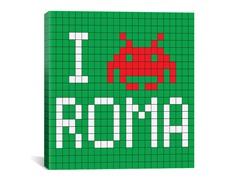 I Invade Rome Tile Art 18x18 Thin