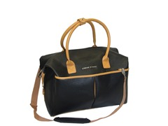 Saffiano Collection Duffle-Black
