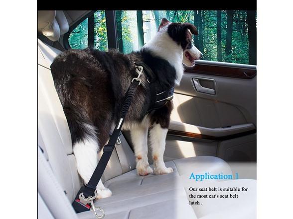 WINSEE Adjustable Dog Seat Belt Leash (2 Pack)