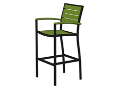 Euro Bar Chair, Black/Lime