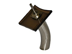 Waterfall Vessel Faucet, Brushed Nickel