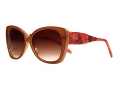 Tally Sunglasses, Medium Brown Marble