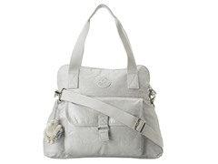 Pahneiro Medium Coated Handbag, Pearlized Grey