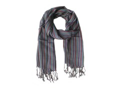 Kitara Multi-Colored Striped Scarf Multi
