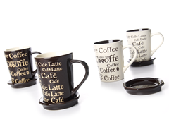 "Signature 14oz ""Coffee"" Mugs (4)"