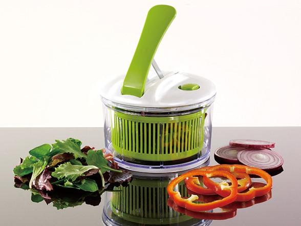 meglio mini lever one push salad spinner. Black Bedroom Furniture Sets. Home Design Ideas