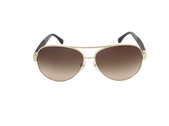 Gold Frame Chanel Sunglasses : Chanel Aviator Gold/Frame Sunglasses - Fashion