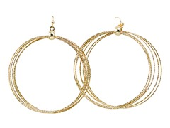 Gold Ring Loop Earrings