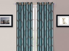 "84"" Metallic Grommet Panels S/2-8 Colors"