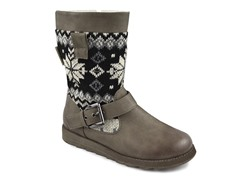 MUK LUKS ® Women's Rae Knit Buckle Boot, Tan