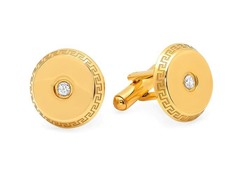 18kt Gold Plated Greek Key Cufflinks