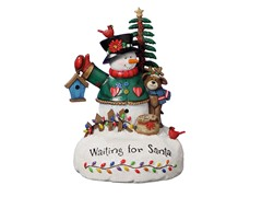 Waiting for Santa Snowman Figurine