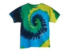 Kids Tee - Kiwi Blue Swirl (10-16)