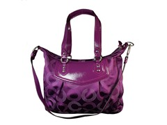 Coach Ashley Signature Shoulder Bag,Purp