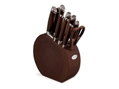 Fiesta 11-Pc. Cutlery Set - Chocolate