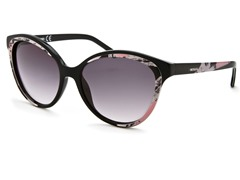 Women's Sunglasses, Black-White-Pink/Dk Purple