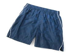 Solid Navy Shorts with Piping