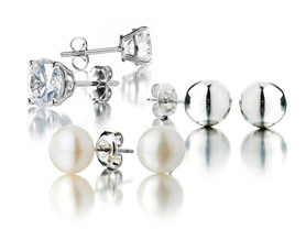 3 Pair Earring Stud Sets- Pick Style
