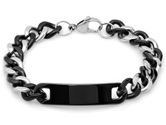 Two-Tone Bracelet in Black and Metallic