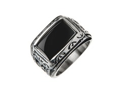 Stainless Steel, Black Onyx, Enamel