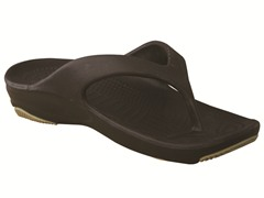 Youth Flip Flop - Dark Brown/Tan