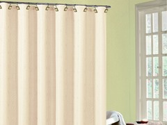 Annabella Fabric Shower Curtain-2 Colors