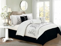 Locklyn Leaf 7Pc Set-White/Black-2 Sizes