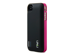Exera iPhone4/4S Battery Case-Black/Pink