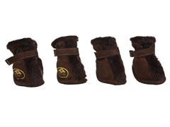 Brown Fur Protective Boots