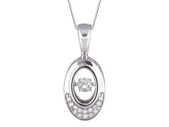 "ZKS Designs ""Dancing"" Diamond Oval Pendant"