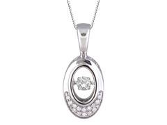 "ZKS Designs ""Dancing"" Diamond Oval Pendant"
