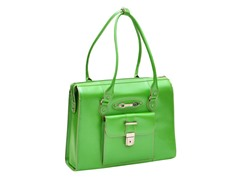 River Forest Leather Ladies' Briefcase - Green