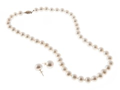 Freshwater Pearl Set w/ 14K Gold