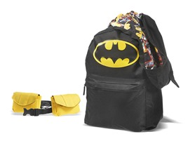Batman Backpack w/ Hood & Removable Utility Belt