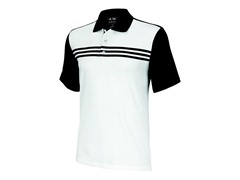 ClimaCool 3-Stripes Polo, White/Blk (XL)