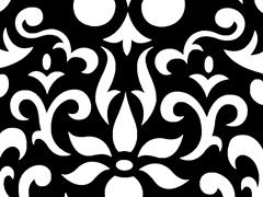 Wallpaper - Black/White Damask