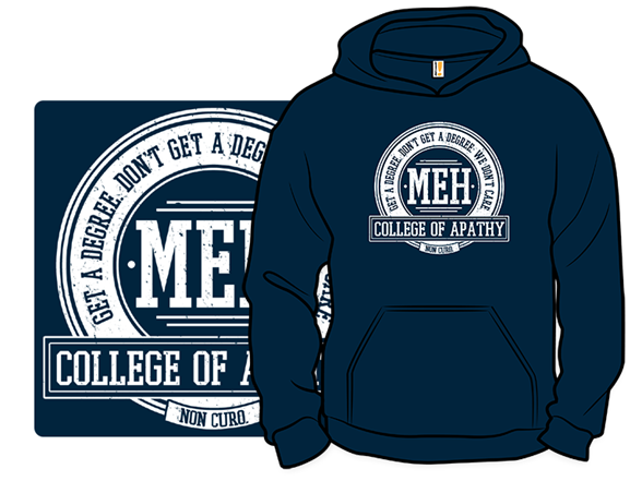 College of Apathy Pullover Hoodie