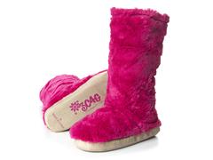 Fuchsia Fuzzy Boots