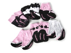 Pretty In Pink 6 Pair Socks