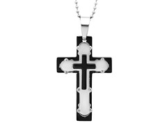 Stainless Steel Triple Cross Pendant
