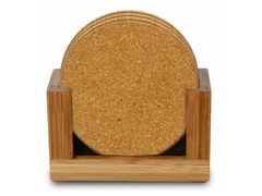 Natural Cork Coaster Gift Set