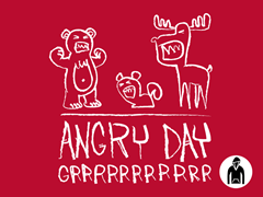 Angry Day Pullover Hoodie