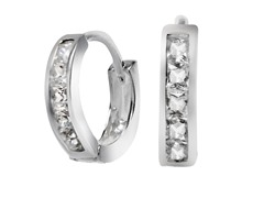 Sterling Silver Sim. Diamond Princess Cut